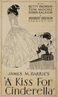 Mainstream Illustration, AMERICAN ARTIST (20th Century). James M. Barrie's A Kiss ForCinderella, movie promotion illustration, c. 1925. Ink on b...