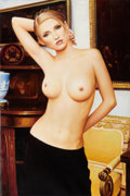 Pin-up and Glamour Art, AMERICAN ARTIST (20th Century). Standing Nude. Oil oncanvas. 36 x 24 in.. Not signed. ...