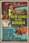 "Movie Posters:Western, Four Guns to the Border (Universal International, 1954). One Sheet(27"" X 41""). Western.. ..."
