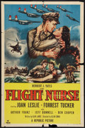"Movie Posters:War, Flight Nurse (Republic, 1953). One Sheet (27"" X 41""). War.. ..."