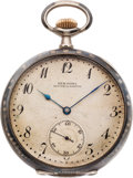 Timepieces:Pocket (post 1900), System Glashutte Niello Pocket Watch, circa 1910. ...