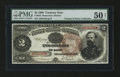 Large Size:Treasury Notes, Fr. 353 $2 1890 Treasury Note PMG About Uncirculated 50 Net....