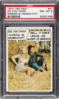 "Non-Sport Cards:Singles (Post-1950), Very Rare 1970 Topps Test ""Hee Haw"" #41 PSA NM-MT 8. ..."
