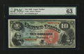 Large Size:Legal Tender Notes, Fr. 96 $10 1869 Legal Tender PMG Choice Uncirculated 63 EPQ....