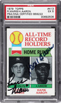 Autographs:Sports Cards, 1979 Roger Maris & Hank Aaron Signed Topps Card....