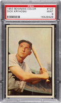 Baseball Cards:Singles (1950-1959), 1953 Bowman Color Dick Kryhoski #127 PSA Mint 9 - Pop 1-of-3Highest Graded Example!...