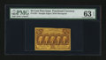 Fractional Currency:First Issue, Fr. 1281 25¢ First Issue PMG Choice Uncirculated 63 EPQ....