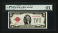 Small Size:Legal Tender Notes, Fr. 1501 $2 1928 Legal Tender Note. PMG Choice Uncirculated 64EPQ.. ...