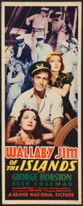 "Movie Posters:Adventure, Wallaby Jim of the Islands (Grand National, 1937). Insert (14"" X36""). Adventure.. ..."