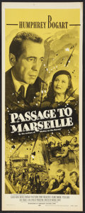 "Movie Posters:War, Passage to Marseille (Dominant Pictures, R-1956). Insert (14"" X36""). War.. ..."
