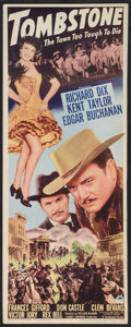 "Movie Posters:Western, Tombstone: The Town Too Tough to Die (Paramount, 1942). Insert (14"" X 36""). Western.. ..."