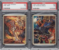 Non-Sport Cards:Sets, 1940 R83 Lone Ranger Graded PSA NM 7 Pair (2). ...