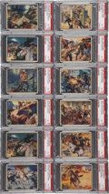 Non-Sport Cards:Sets, 1940 R83 Lone Ranger PSA EX-MT 6 Collection (12) With High Numbers!...