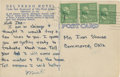 Autographs:Post Cards, 1951 Mickey Mantle Handwritten Signed Postcard....