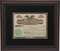 Autographs:Others, 1923 Joe Tinker Signed Stock Certificate....