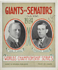 Autographs:Others, 1924 Babe Ruth & Ty Cobb Signed World Series Program....