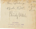 Autographs:Others, 1927 Babe Ruth, Lou Gehrig & Christy Walsh Signed Page....
