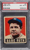 Baseball Cards:Singles (1940-1949), 1948-49 Leaf Babe Ruth #3 PSA NM-MT 8....