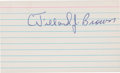Autographs:Index Cards, 1970's Willard Brown Signed Index Card. ...