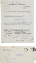 Autographs:Others, 1952 John Donaldson Completed & Signed Questionnaire....
