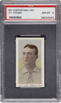 Baseball Cards:Singles (Pre-1930), 1911 M116 Sporting Life Cy Young PSA NM-MT 8....