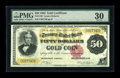 Large Size:Gold Certificates, Fr. 1193 $50 1882 Gold Certificate PMG Very Fine 30....