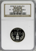 Proof Statehood Quarters: , 2000-S 25C Maryland Clad PR70 Deep Cameo NGC. PCGS Population(60/0). Numismedia Wsl. Price for NGC/PCG...
