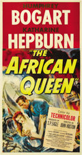 "Movie Posters:Adventure, The African Queen (United Artists, 1952). Three Sheet (41"" X 81"")...."