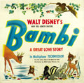 "Movie Posters:Animated, Bambi (RKO, 1942). Six Sheet (81"" X 81""). ..."