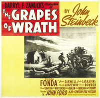 "The Grapes of Wrath (20th Century Fox, 1940). Six Sheet (81"" X 81"")"