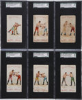 "Boxing Cards:General, 1893 N266 Red Cross ""Boxing Positions and Boxers"" SGC-Graded Groupof (6). ..."