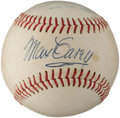 Autographs:Baseballs, 1950's Max Carey Single Signed Baseball....