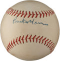 Autographs:Baseballs, 1950's Bucky Harris Single Signed Baseball....
