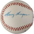Autographs:Baseballs, 1950's Harry Hooper Signed Baseball....
