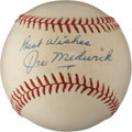 Autographs:Baseballs, 1960's Joe Medwick Single Signed Baseball....