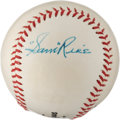Autographs:Baseballs, 1960's Sam Rice Signed Baseball....