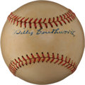 Autographs:Baseballs, 1940's Billy Southworth Signed Baseball....