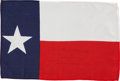 Transportation:Space Exploration, Gemini 7 Flown Large-Size Texas State Flag Directly from the Personal Collection of Mission Pilot James Lovell, Signed (Twice)...