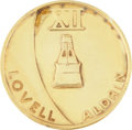 Transportation:Space Exploration, Gemini 12 Flown Fliteline Gold-Colored Medallion Directly from thePersonal Collection of Mission Commander James Lovell. ...