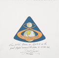 Transportation:Space Exploration, Apollo 8 Flown Beta Cloth Mission Insignia Patch Directly from thePersonal Collection of Mission Command Module Pilot James L...