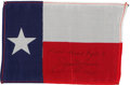Transportation:Space Exploration, Apollo 8 Flown Texas State Flag Directly from the PersonalCollection of Mission Command Module Pilot James Lovell, Signedand...
