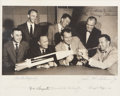 "Autographs:Celebrities, ""Mercury Seven"" NASA Astronaut Group One Photo Signed by All...."
