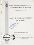 Autographs:Celebrities, Apollo 8 MPAD's Operational Handbook Signed by MissionBackup Lunar Module Pilot Fred Haise....