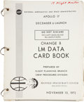 Transportation:Space Exploration, Apollo 17 Training-Used LM Data Card Book, ChangeB....