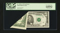 Error Notes:Foldovers, Fr. 1975-L $5 1977A Federal Reserve Note. PCGS Very Choice New64PPQ....