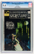 Bronze Age (1970-1979):Romance, Sinister House of Secret Love #1 (DC, 1971) CGC NM 9.4 Whitepages....