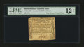 Colonial Notes:Massachusetts, Massachusetts October 18, 1776 9d PMG Fine 12 Net....