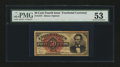 Fr. 1374 50¢ Fourth Issue Lincoln PMG About Uncirculated 53