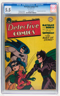 Golden Age (1938-1955):Superhero, Detective Comics #122 (DC, 1947) CGC FN- 5.5 Off-white pages....