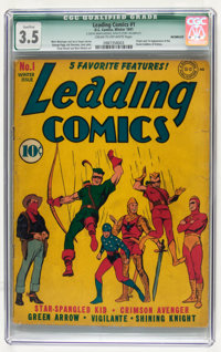 Leading Comics #1 Incomplete (DC, 1941) CGC Qualified VG- 3.5 Cream to off-white pages